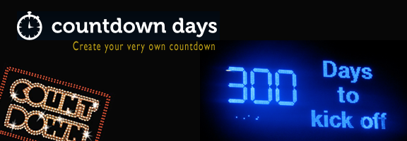 Countdowndays.com – Create your very own countdown
