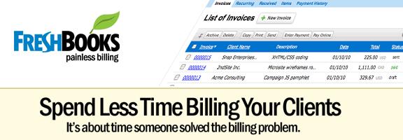 Freshbooks.com – Painless billing