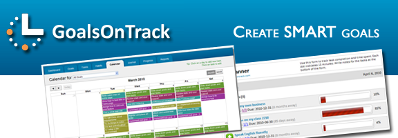 Goalsontrack.com – Keeping your Goals on track