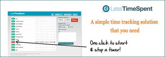 Lesstimespent.com – Simple time tracking solution