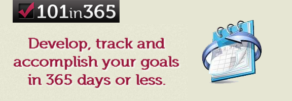 101in365.com – Goal tracking application