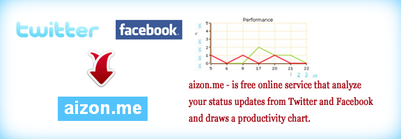Aizon.me – App for twitter and facebook