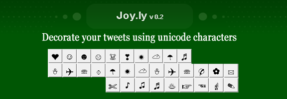 Joy.ly – Add your twitter emoticons