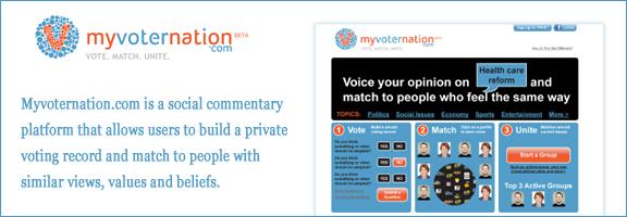 Myvoternation.com – Vote.Match.Unite