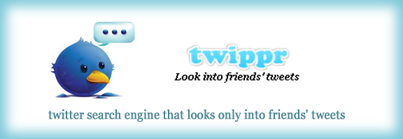 Twippr.com – Twitter search application