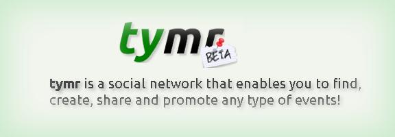 Tymr.com – Event Social Network