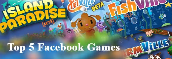 Top 5 Facebook Games in 2010