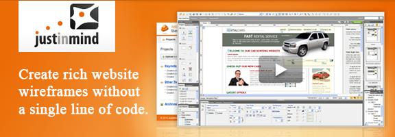 Justinmind.com – Website wireframe tool