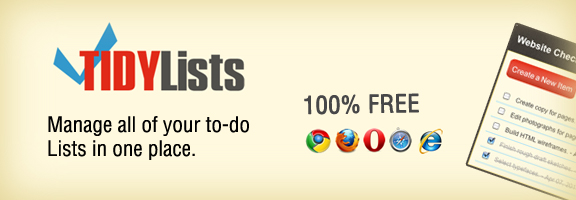 Tidylists.com – Persuasive service of to-do lists