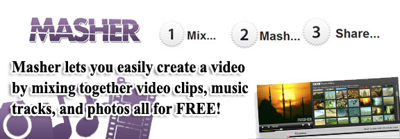 Masher.com – Make your Video-Photo-Music