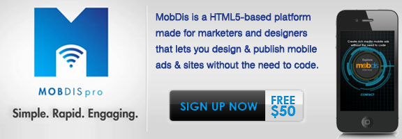mobdis.com – Get your HTML5 Sites for Mobiles