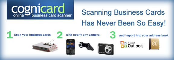 Cognicard easy web based business card scanner webapprater cognicard easy web based business card scanner reheart Image collections