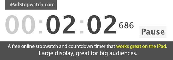 ipadstopwatch.com – Easy Online Countdown Timer