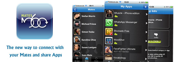 Mates360 – iOS App to Connect and Share with Mates