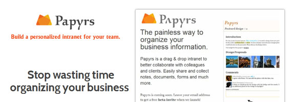 Papyrs.com – Organize Business with Intranet Software
