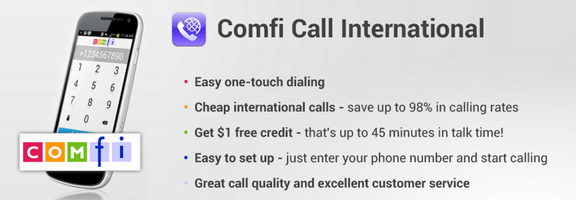 Comfi Call International – For Cheap and Best Call Rates