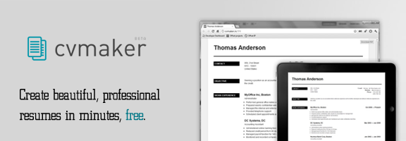 Online CV Builder and Professional Resume CV Maker   VisualCV