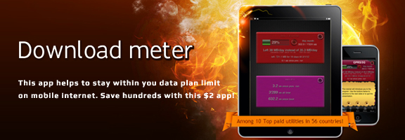 Download Meter – Keep Track of Your Mobile Internet Usage