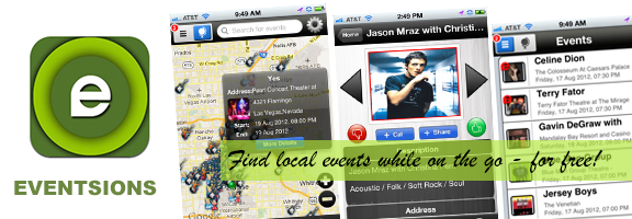 Eventsions – The Best Event Locator App