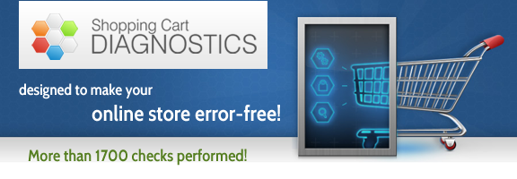 Shopping Cart Diagnostics – Never Worry about Your Website Anymore