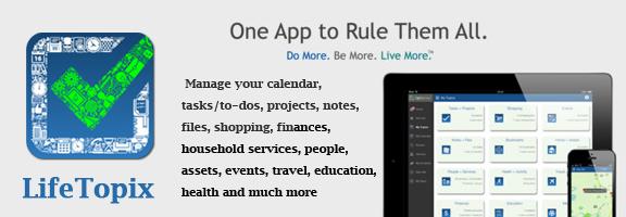 LifeTopix iOS App – Your Life Manager