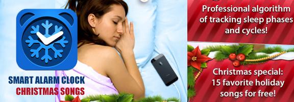 Smart Alarm Clock: Christmas songs- Now Wake Up Rejuvenated