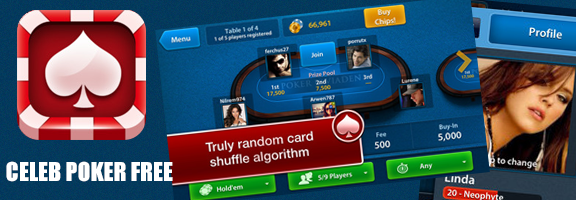 Celeb Poker Free : A Solid Poker App For You