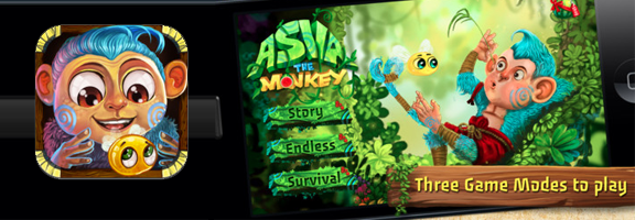 Asva The Monkey HD : A Puzzle Game with Numerous Levels