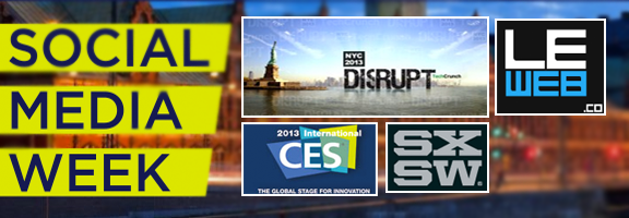 Top 5 Upcoming Tech Events in 2013