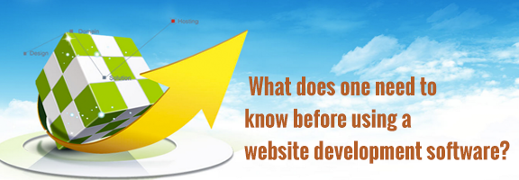What does one need to know before using website development software?