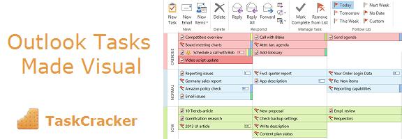 TaskCracker: Visual Task Management for Outlook Tasks