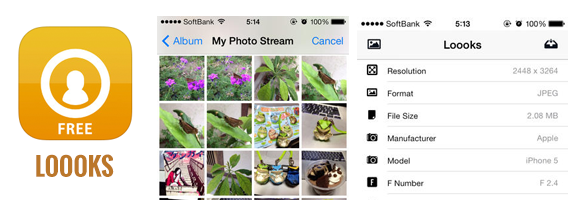 """The Latest Version Of The Photo Exif checker """"Loooks"""" on iTunes!"""