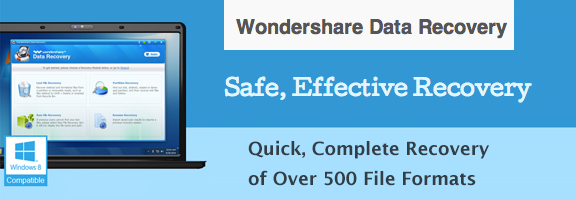 Recover Lost Files with Ease -Wondershare Data Recovery System