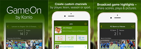 Share Your Sports Experience WithGameOn by Korrio