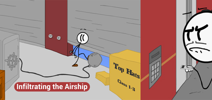 Flying unfriendly skies with Infiltrating the Airship