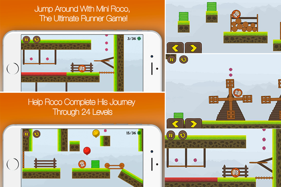 Mini Roco: Leaping Bump Cow Platformer Game- Must Have !
