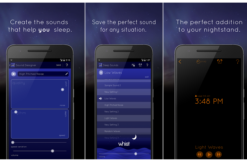 Whist- Sleep Sound Designer : For a Good Sleep !