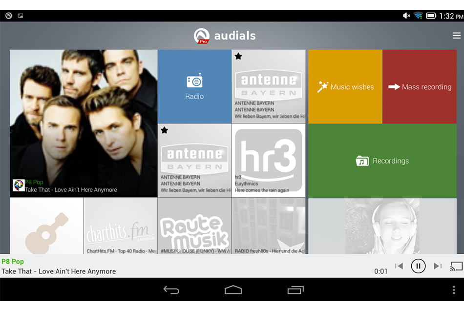 Audials Radio Player Recorder: A Useful, Integrated Rare Android App