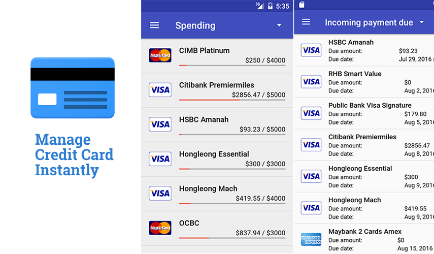 Manage Credit Card Instantly: High Quality Managing and Tracking