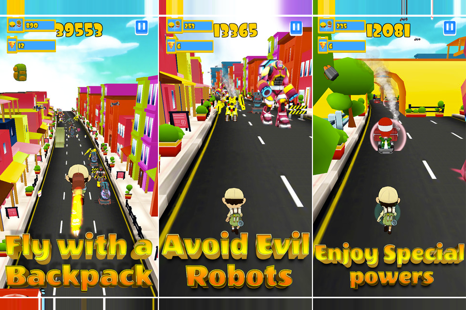 Robot Clash Run- Protect The World Against Attacks From Evil Robots