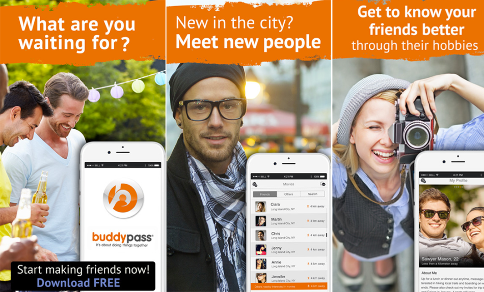 Meet New People, Identify Hobbies, Interest and Local Events With Buddypass