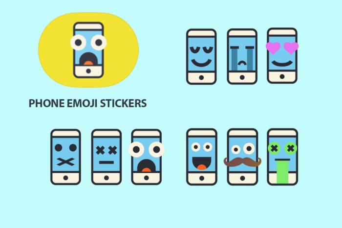 Phone Emoji Stickers 700x466