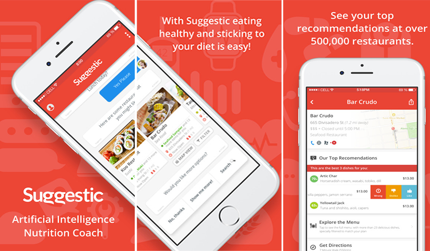 Get the most out of the food with the Suggestic app