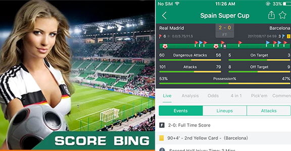 SCORE BING- GO AHEAD & DISCOVER EVERYTHING ABOUT FOOTBALL!