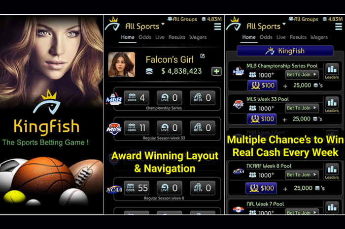 KING FISH: THE SPORTS BETTING GAME- SPEND NOTHING & WIN BIG!