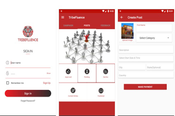 TribeFluence app Connects Branders and Influencers