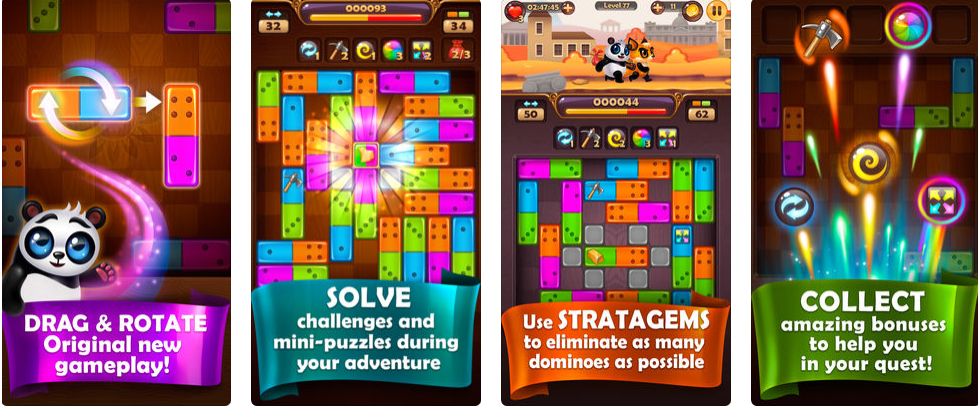 PANDAMINO: THE COLOR SLIDE PUZZLE GAME