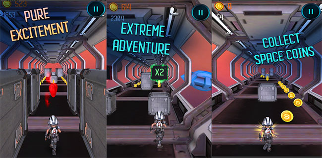 Space Run 3D Infinite Running Adventure Web