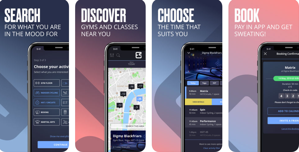 Esquared – Gyms & Studios :Must Have App