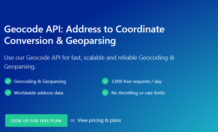 Geocode API For Your Geocoding and Geoparsing Needs